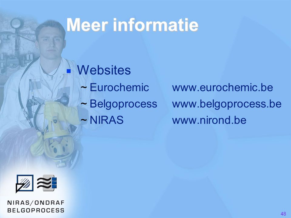 Meer informatie Websites Eurochemic www.eurochemic.be