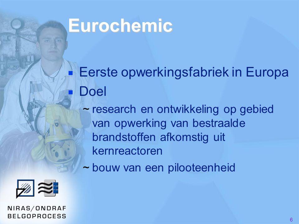 Eurochemic Eerste opwerkingsfabriek in Europa Doel