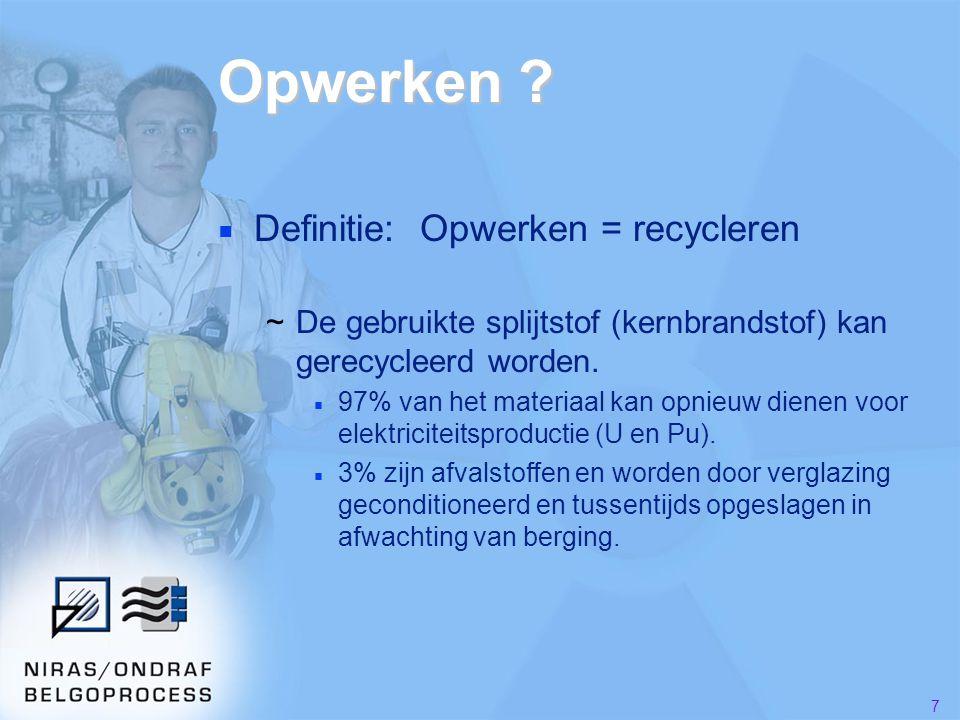 Opwerken Definitie: Opwerken = recycleren