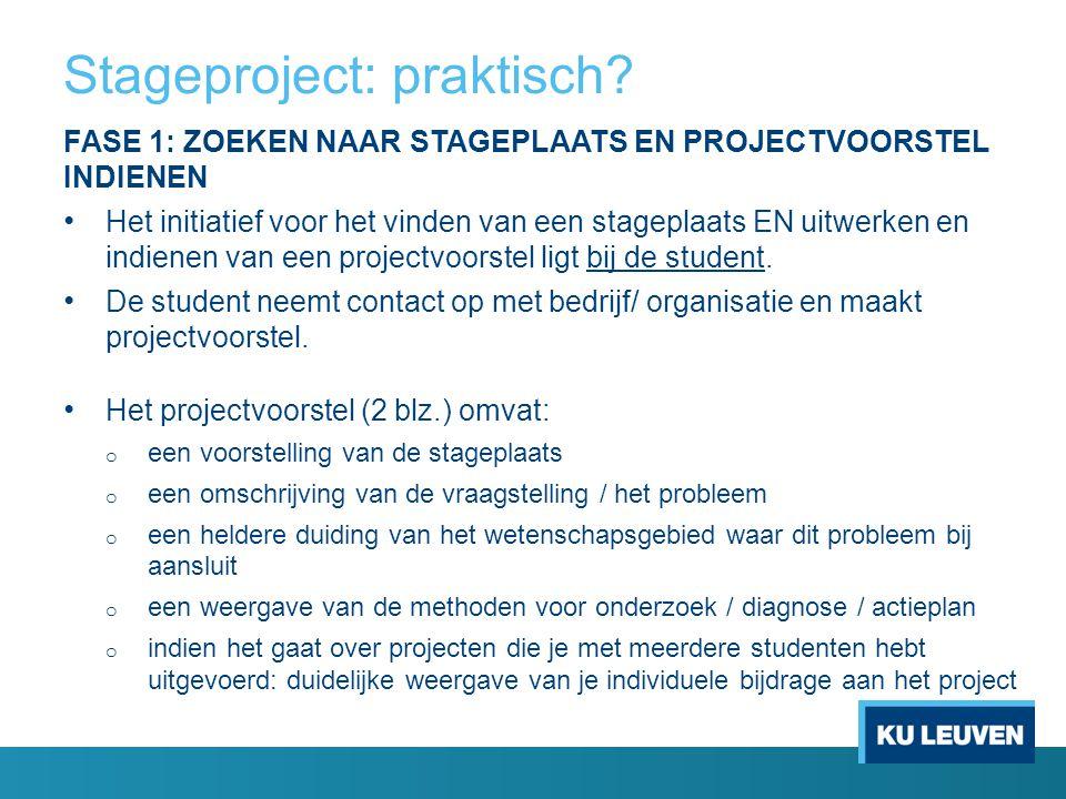 Stageproject: praktisch