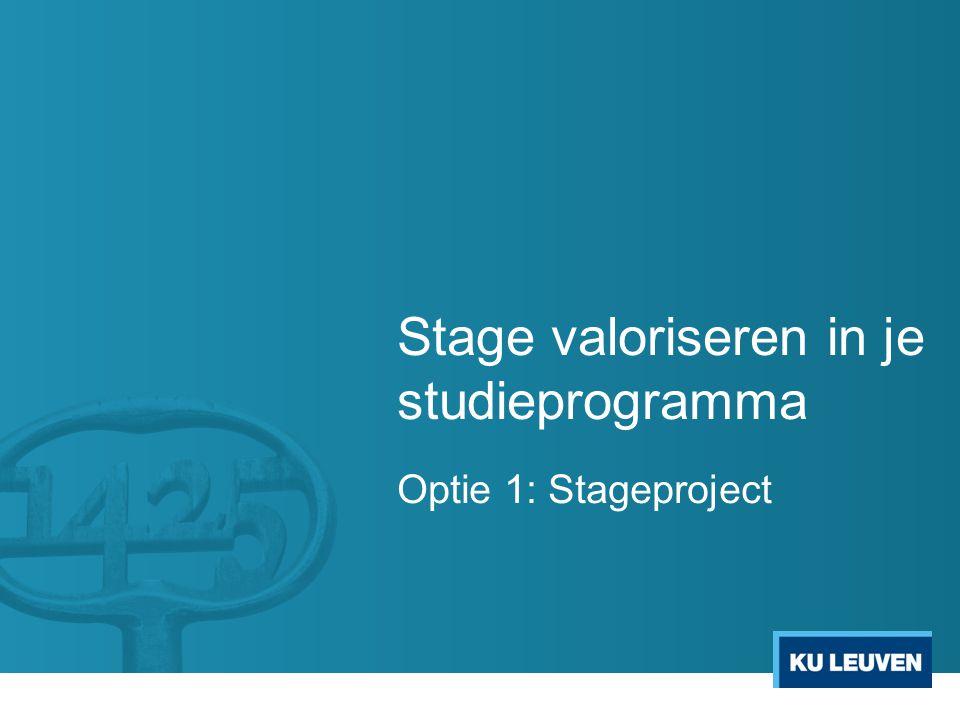 Stage valoriseren in je studieprogramma