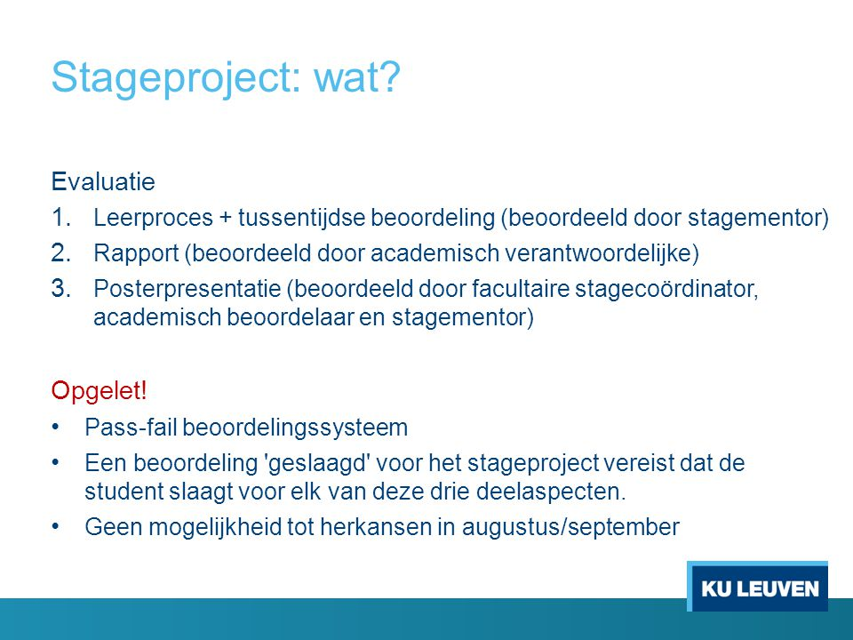 Stageproject: wat Evaluatie Opgelet!