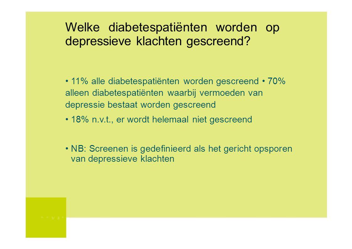Welke diabetespatiënten worden op depressieve klachten gescreend