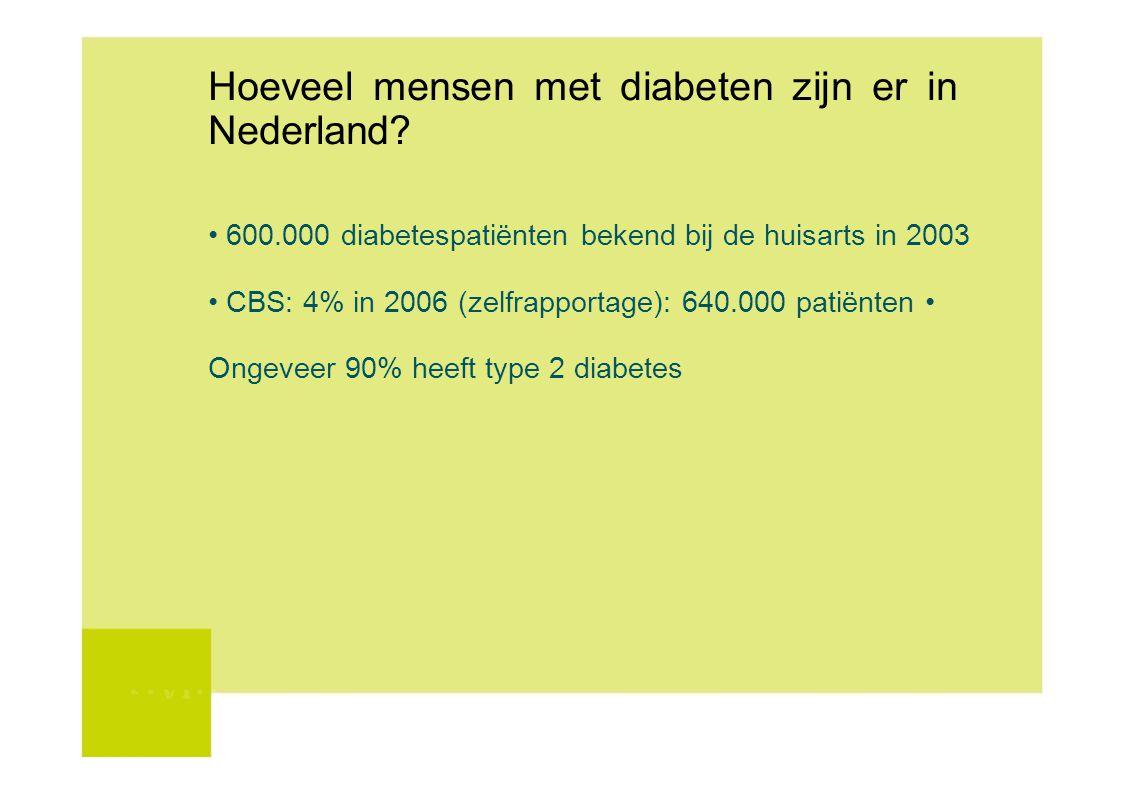 Hoeveel mensen met diabeten zijn er in Nederland