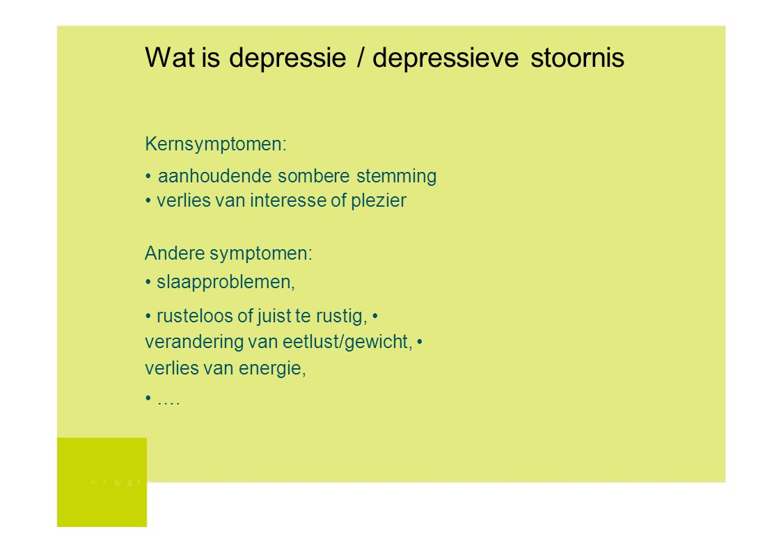 Wat is depressie / depressieve stoornis