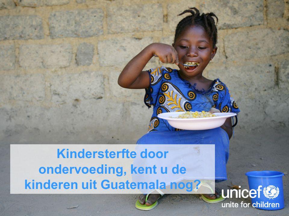 Kindersterfte door ondervoeding, kent u de kinderen uit Guatemala nog