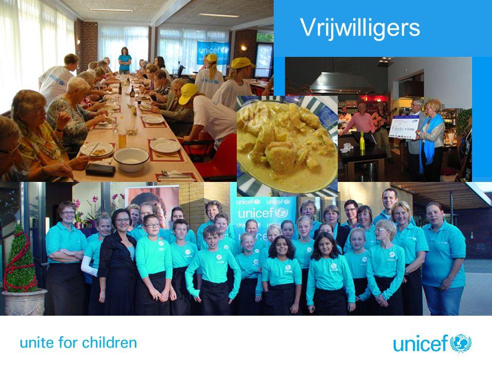 Vrijwilligers Benefietdiner Koken voor UNICEF