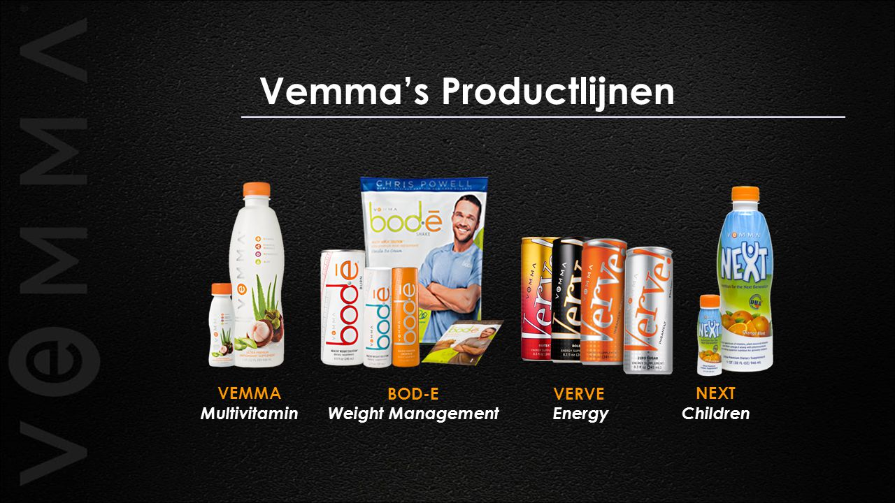 Vemma's Productlijnen BOD-E Weight Management