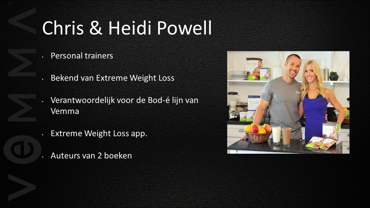 Chris & Heidi Powell Personal trainers Bekend van Extreme Weight Loss