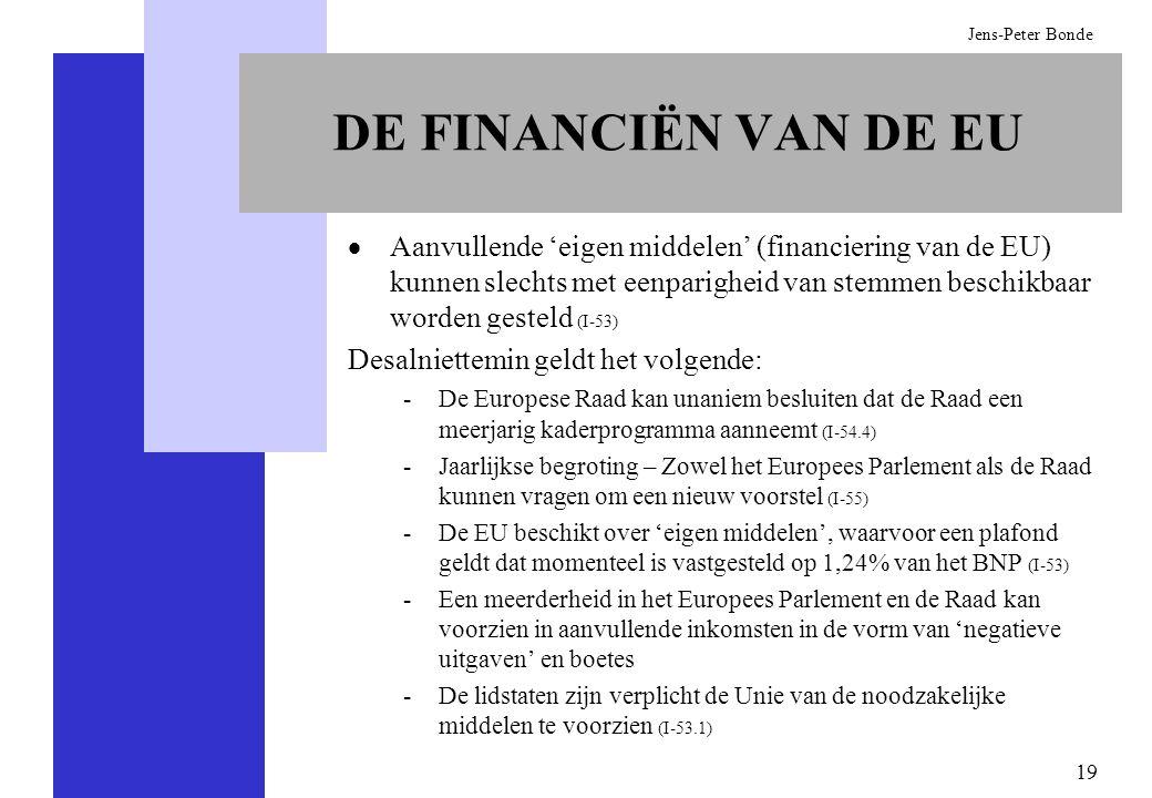 DE FINANCIËN VAN DE EU