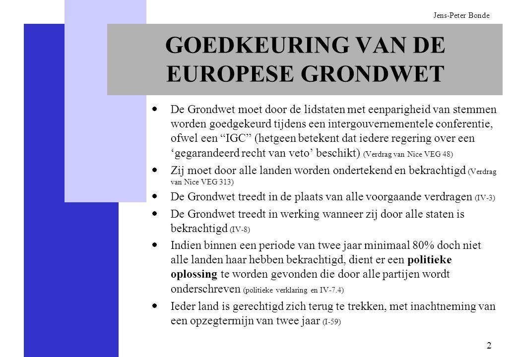 GOEDKEURING VAN DE EUROPESE GRONDWET
