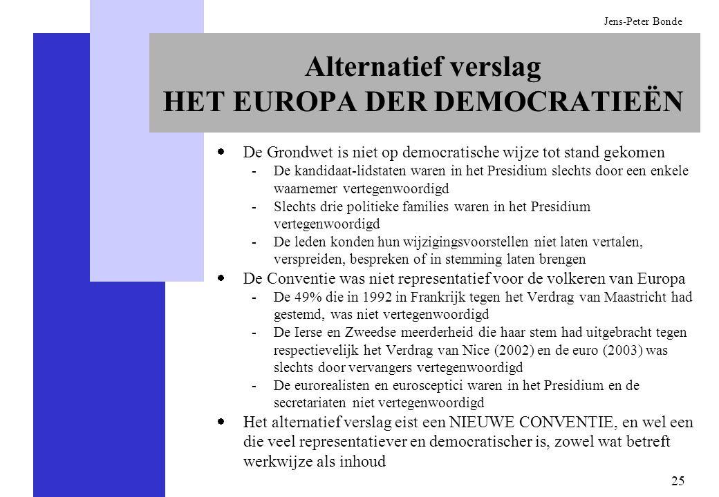 Alternatief verslag HET EUROPA DER DEMOCRATIEËN
