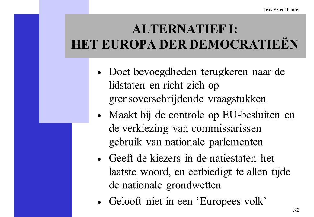 ALTERNATIEF I: HET EUROPA DER DEMOCRATIEËN