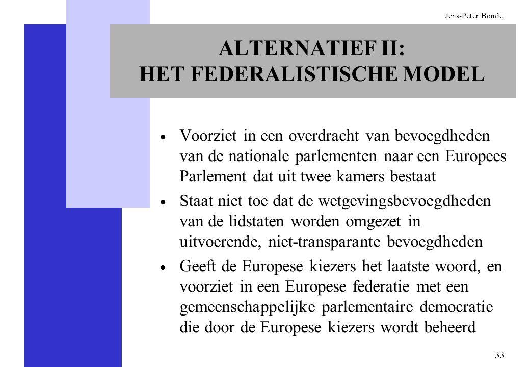 ALTERNATIEF II: HET FEDERALISTISCHE MODEL