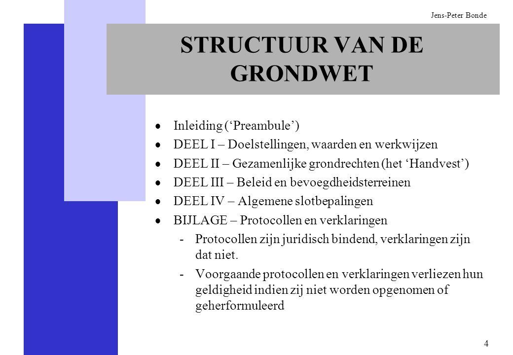 STRUCTUUR VAN DE GRONDWET