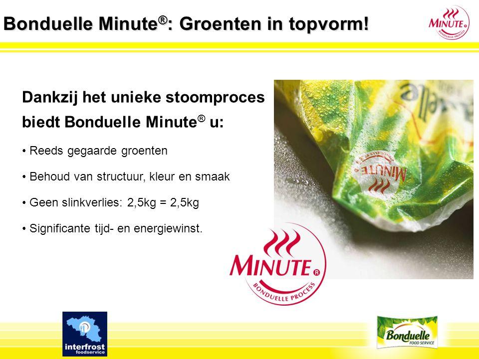 Bonduelle Minute®: Groenten in topvorm!
