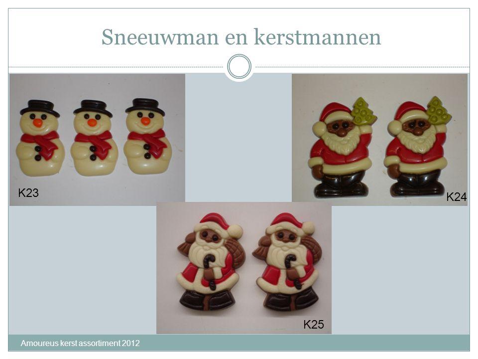 Sneeuwman en kerstmannen