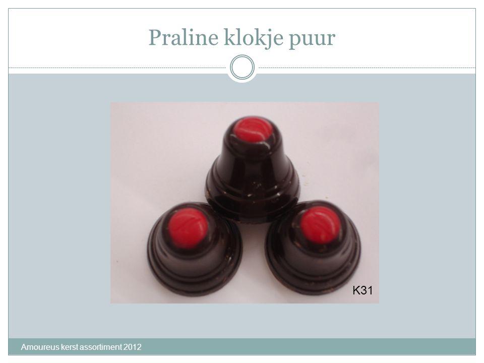 Praline klokje puur K31 Amoureus kerst assortiment 2012