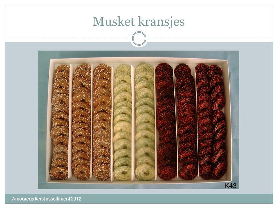 Musket kransjes K43 Amoureus kerst assortiment 2012