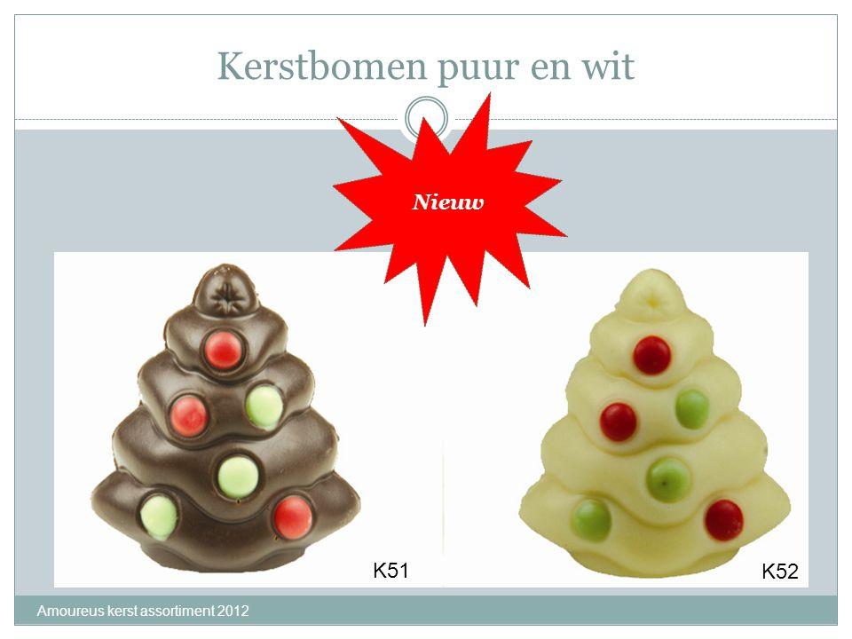Kerstbomen puur en wit Nieuw K51 K52 Amoureus kerst assortiment 2012
