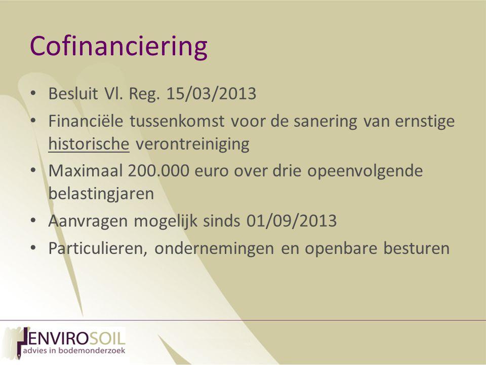 Cofinanciering Besluit Vl. Reg. 15/03/2013