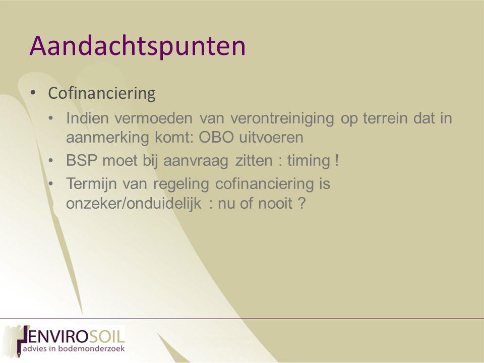Aandachtspunten Cofinanciering