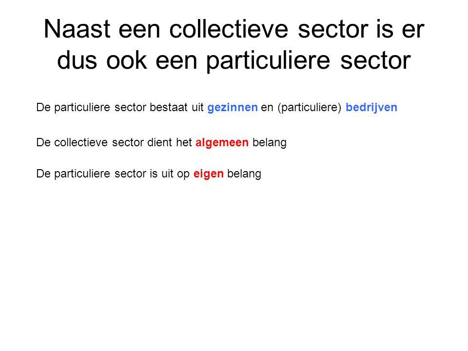 Naast een collectieve sector is er dus ook een particuliere sector