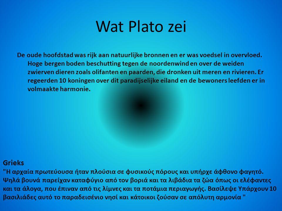 Wat Plato zei