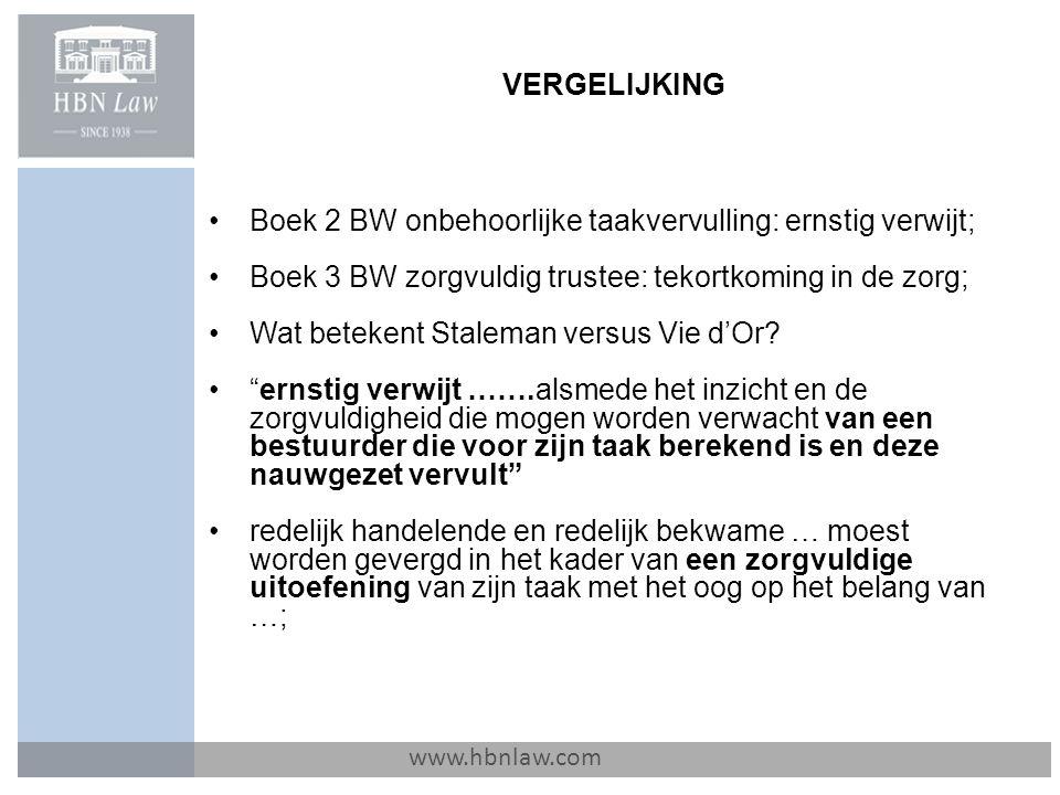 Boek 2 BW onbehoorlijke taakvervulling: ernstig verwijt;