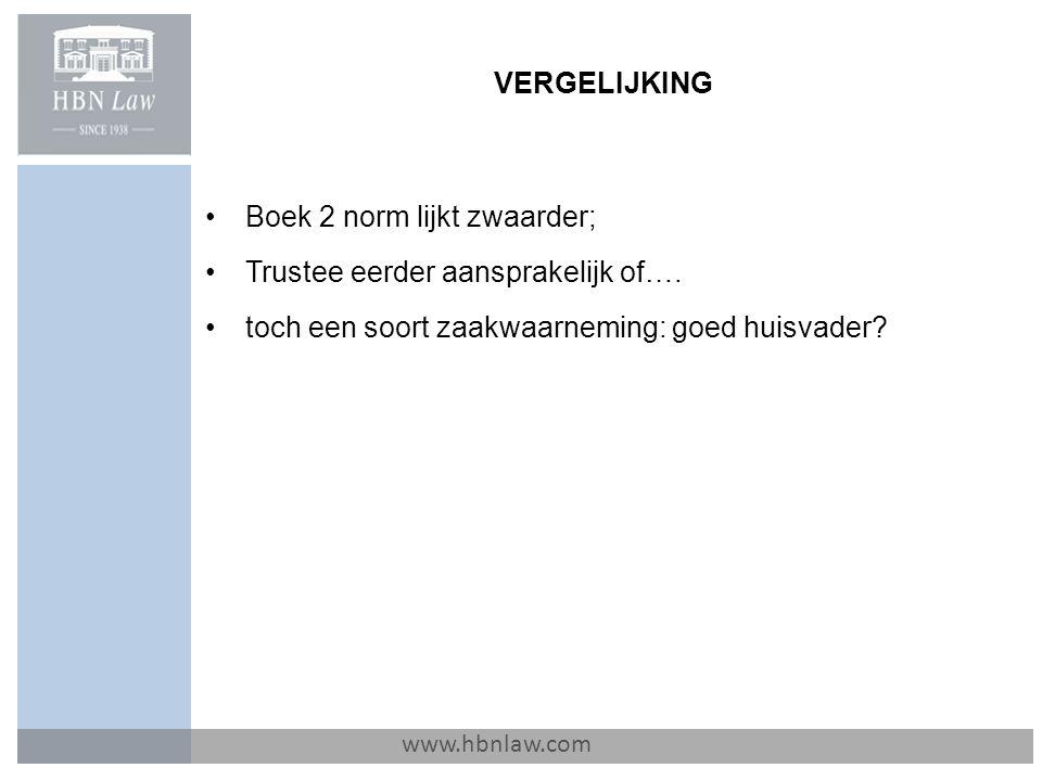 Boek 2 norm lijkt zwaarder; Trustee eerder aansprakelijk of….
