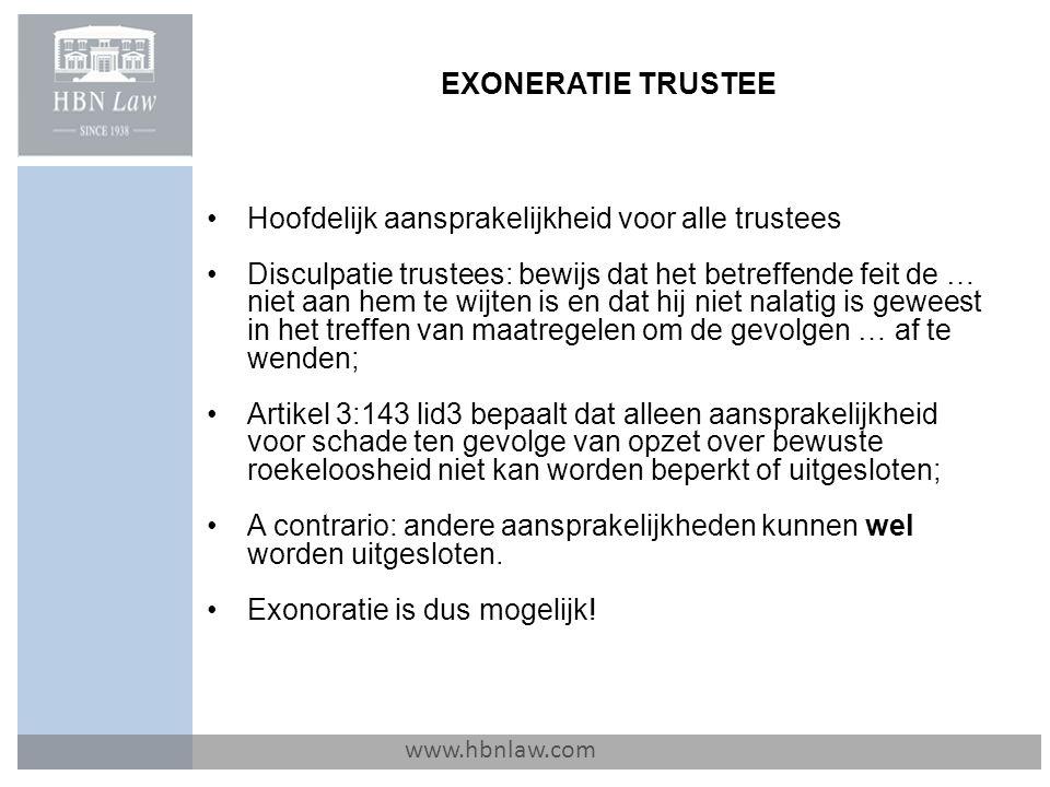 Hoofdelijk aansprakelijkheid voor alle trustees