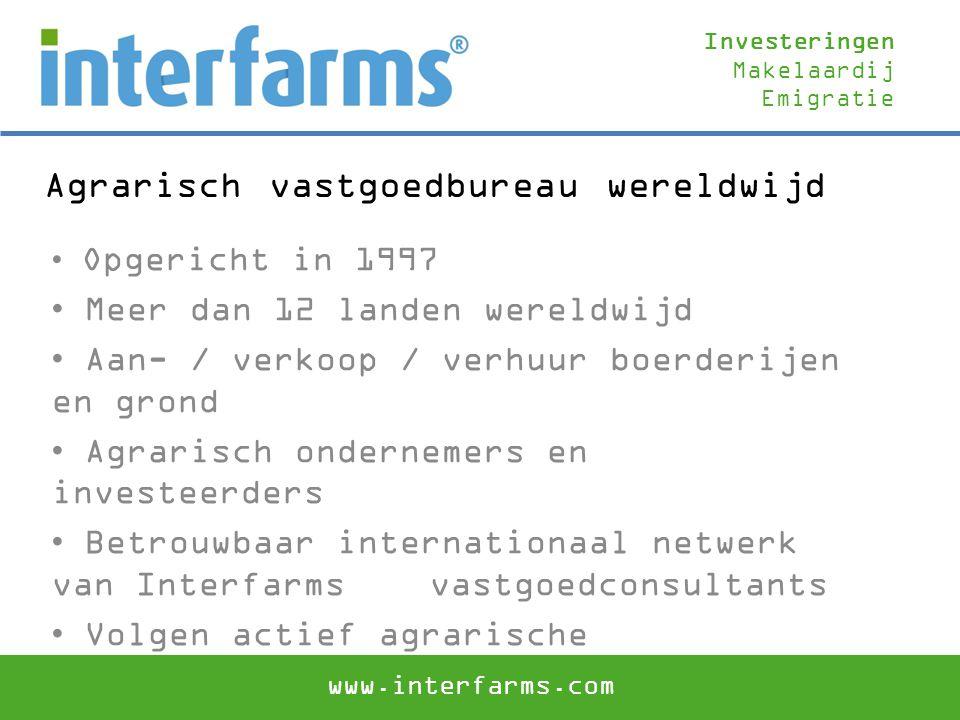 Agrarisch vastgoedbureau wereldwijd