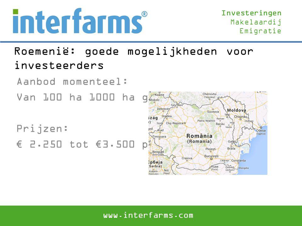 Roemenië: goede mogelijkheden voor investeerders