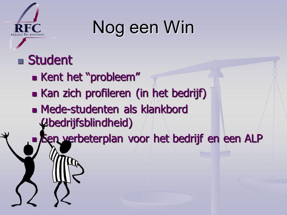 Nog een Win Student Kent het probleem