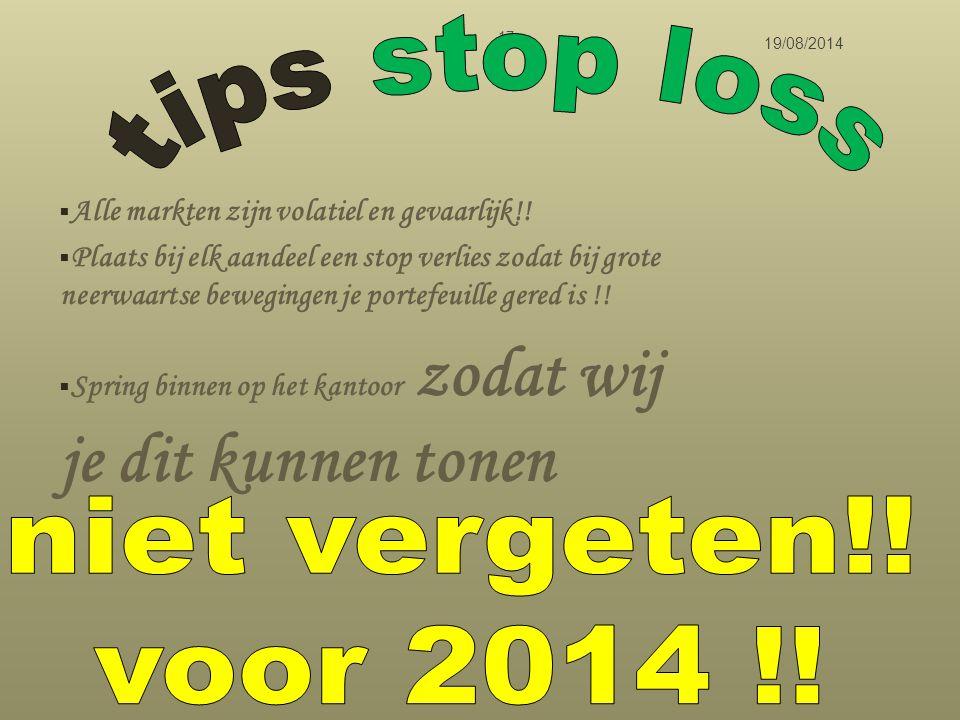 tips stop loss niet vergeten!! voor 2014 !!