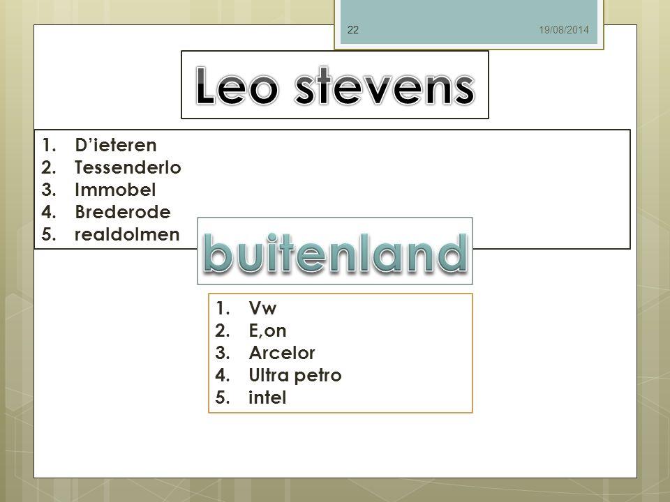 Leo stevens buitenland