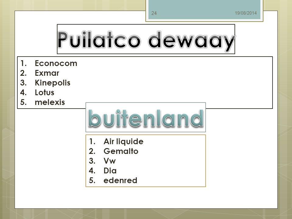 Puilatco dewaay buitenland