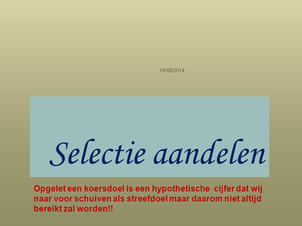 05/04/2017 Selectie aandelen.
