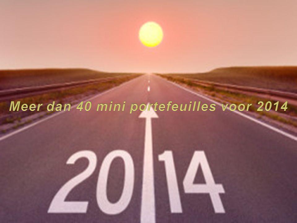 Meer dan 40 mini portefeuilles voor 2014