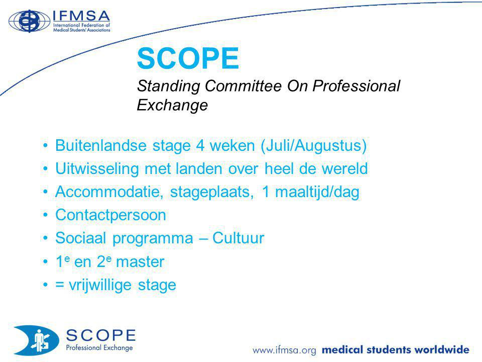 SCOPE Standing Committee On Professional Exchange