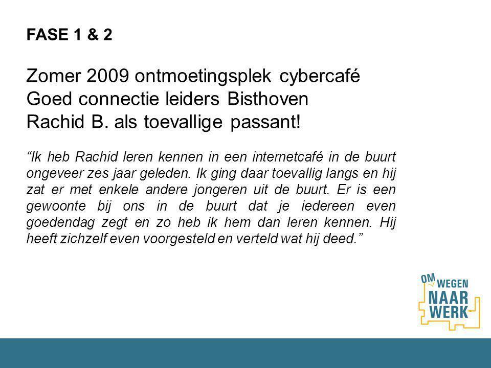 Zomer 2009 ontmoetingsplek cybercafé Goed connectie leiders Bisthoven