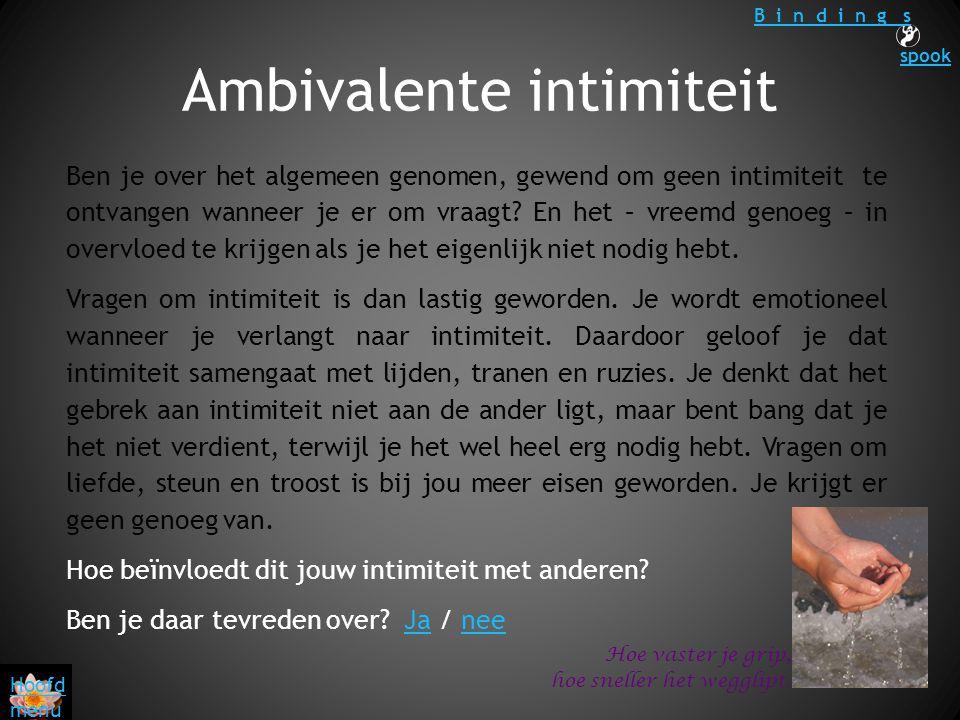 Ambivalente intimiteit