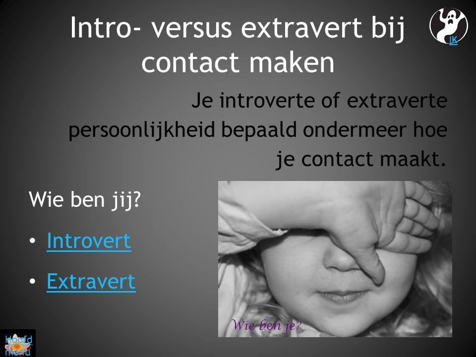 Intro- versus extravert bij contact maken