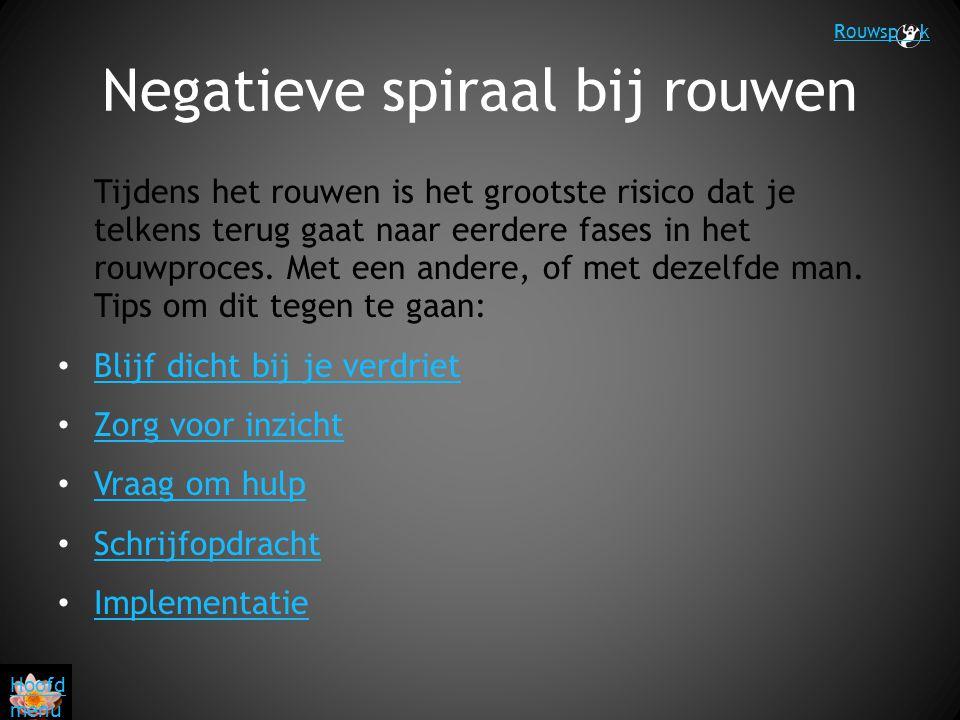 Negatieve spiraal bij rouwen
