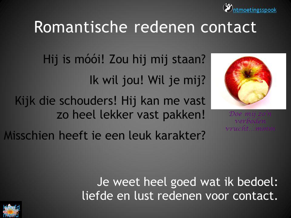 Romantische redenen contact