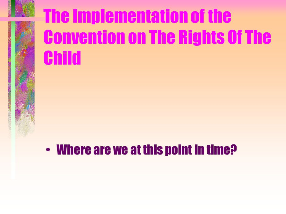 The Implementation of the Convention on The Rights Of The Child