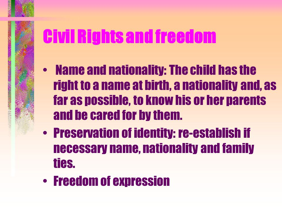 Civil Rights and freedom