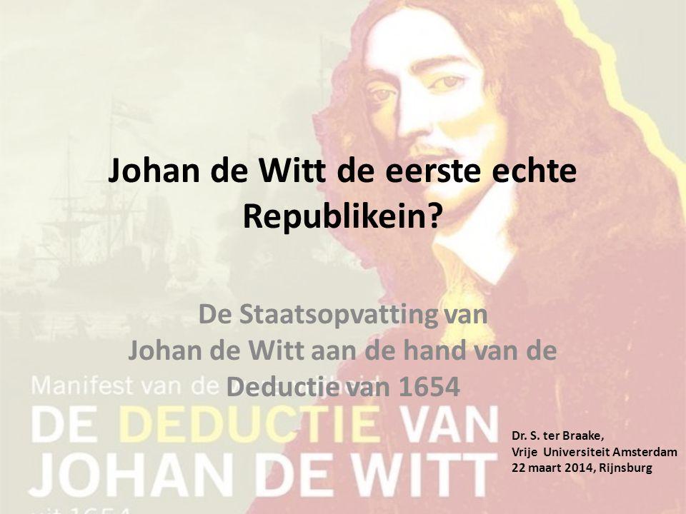 Johan de Witt de eerste echte Republikein