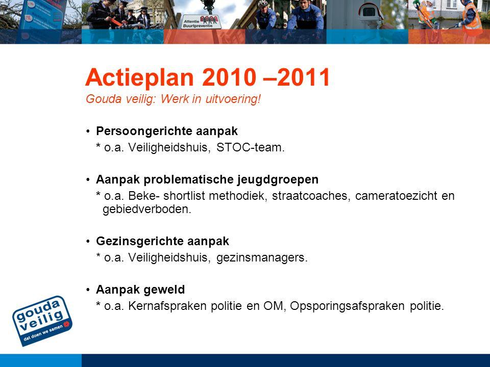 Actieplan 2010 –2011 Gouda veilig: Werk in uitvoering!