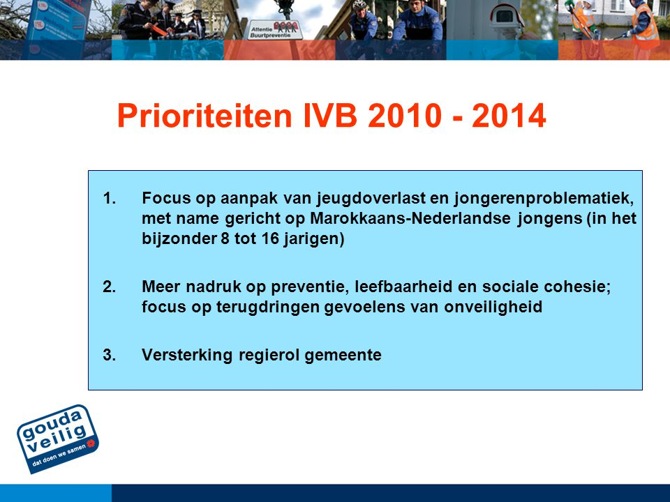Prioriteiten IVB 2010 - 2014